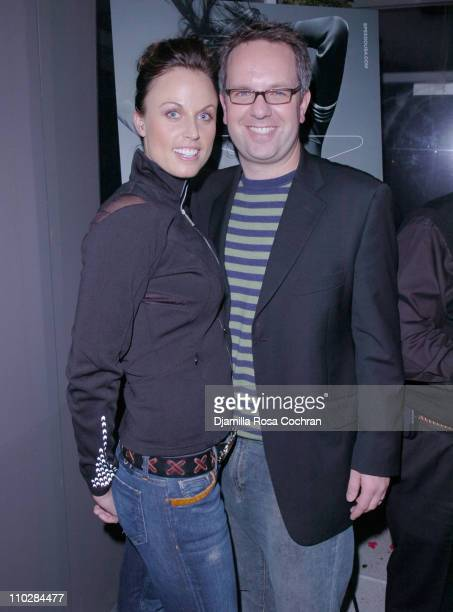 Amanda Beard and Craig Brommers during W Magazine Celebrates the Launch of the 2006 Speedo Ad Campaign at Gansevoort Hotel in New York, New York.