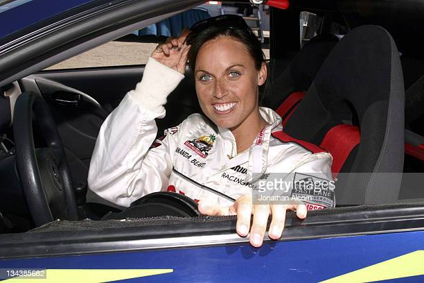 Amanda Beard at practice preparing for the upcoming 2005 Toyota Pro/Celebrity Race at the Toyota Grand Prix of Long Beach California on March 29 2005...