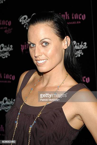 Amanda Beard attends Harry Morton's Pink Taco Restaurant Celebrates the Opening of New Los Angeles Outpost at Pink Taco on June 28 2007 in Century...