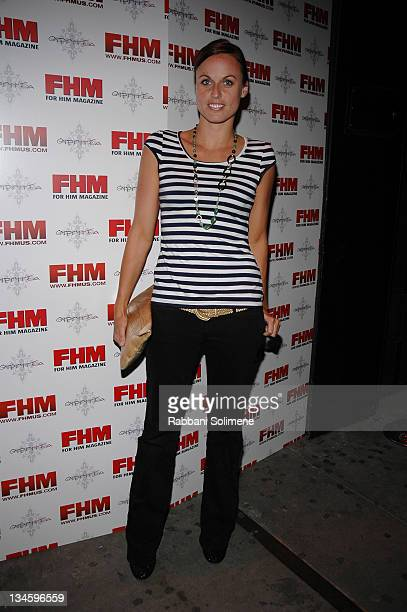 Amanda Beard during FHM Players Draft Party at Gypsy Tea in New York City New York United States