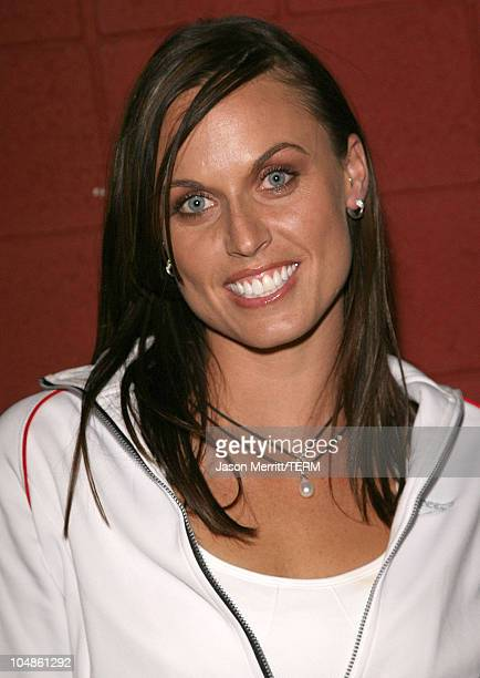 Amanda Beard during New Speedo Axcelerate Collection Launch Party at Cabana Club in Hollywood California United States