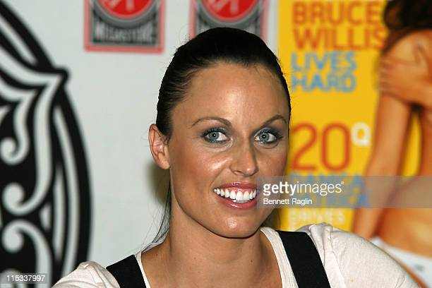 Amanda Beard during Olympic Swimmer Amanda Beard Signs Copies of July 2007 Playboy Issue at Virgin Megastore Times Square in New York City New York...