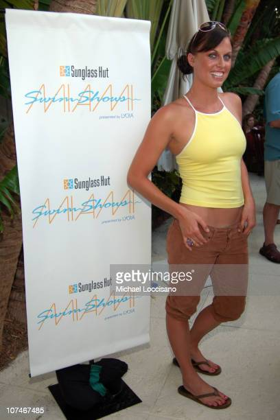 Amanda Beard during Sunglass Hut Swim Shows Miami Presented by LYCRA Press Conference at Raleigh Hotel in Miami Beach Florida United States