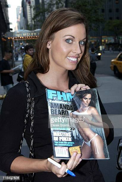 Amanda Beard FHM's 'Worlds Sexiest Athlete' during Amanda Beard and Paul Reubens Arrive at the WB11 Morning News July 14 2006 in New York City New...