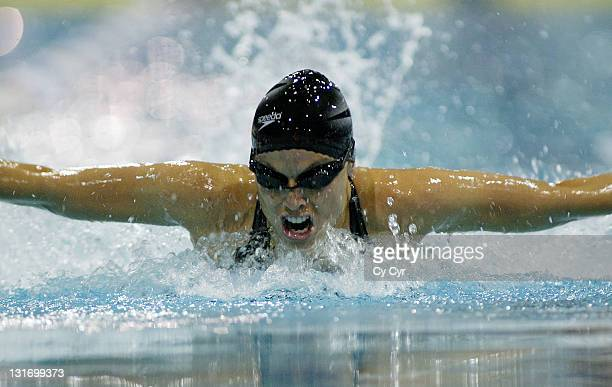 Amanda Beard of Tuscon Ford Dealers Aquatics competes and wins in the 200 LC Meter IM at the YMCA in Orlando Florida on Saturday February 14th 2004