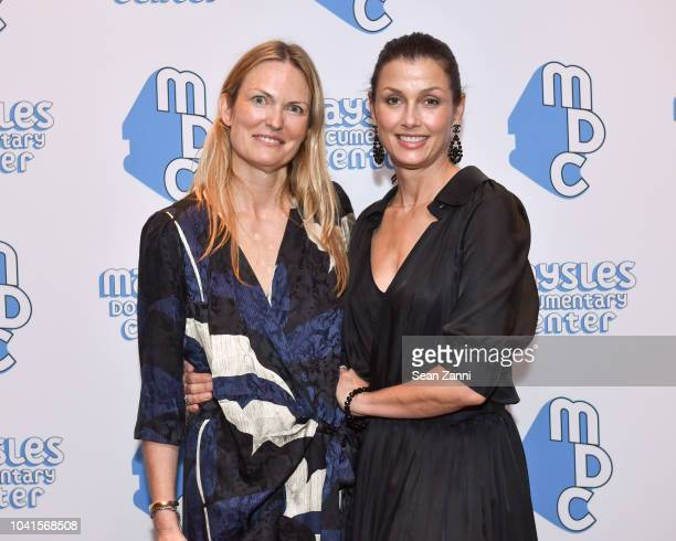 Amanda Benchley and Bridget Moynahan attend The Maysles Documentary Center's Albie Award Dinner at a Private Club on September 26 2018 in New York...