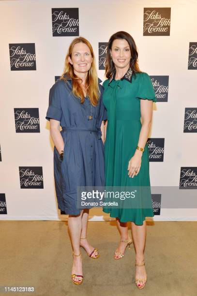 Amanda Benchley and Bridget Moynahan attends Saks Beverly Hills Celebrates Our Shoes Our Selves Book Launch with Bridget Moynahan and Amanda Benchley...