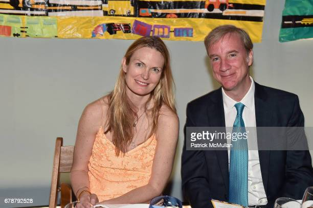 Amanda Benchley and James Bassett attend the Studio in a School 40th Anniversary Gala at Seagram Building Plaza on May 3 2017 in New York City
