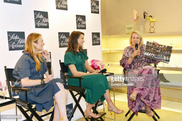 Amanda Benchley Bridget Moynahan and Booth Moore attend Saks Beverly Hills Celebrates Our Shoes Our Selves Book Launch with Bridget Moynahan and...
