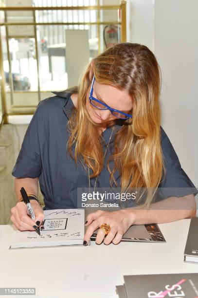Amanda Benchley signs books at Saks Beverly Hills Celebrates Our Shoes Our Selves Book Launch with Bridget Moynahan and Amanda Benchley on April 25...