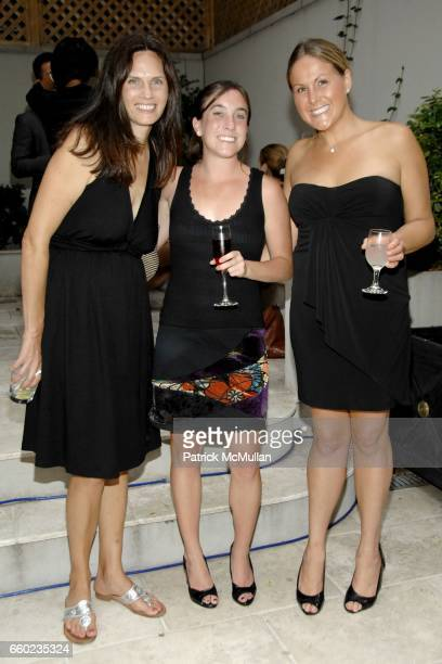 Amanda Bernard Lauren Levy and Lauren Griewski attend Belovedstarcom PopUp Boutique and Cocktails at Private Residence on July 22 2009 in New York...