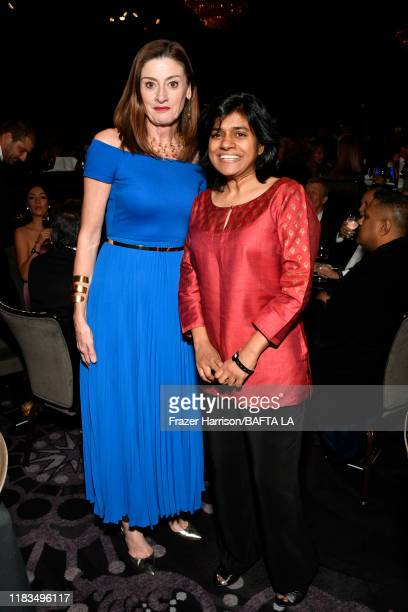 BAFTA CEO Amanda Berry and President BritBox Soumya Sriraman attend the 2019 British Academy Britannia Awards presented by American Airlines and...