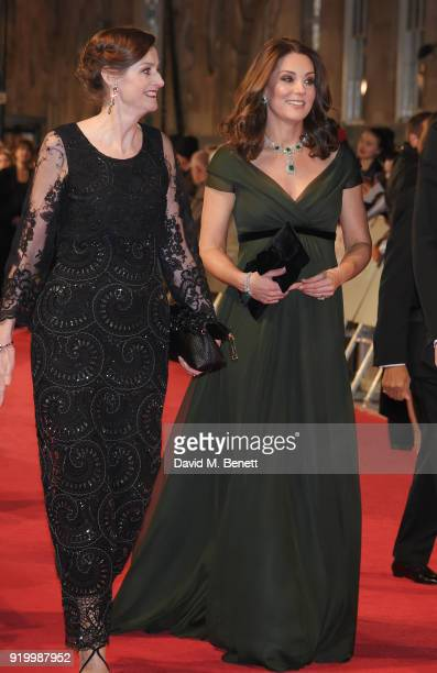 Amanda Berry CEO of BAFTA and Catherine Duchess of Cambridge attend the EE British Academy Film Awards held at Royal Albert Hall on February 18 2018...