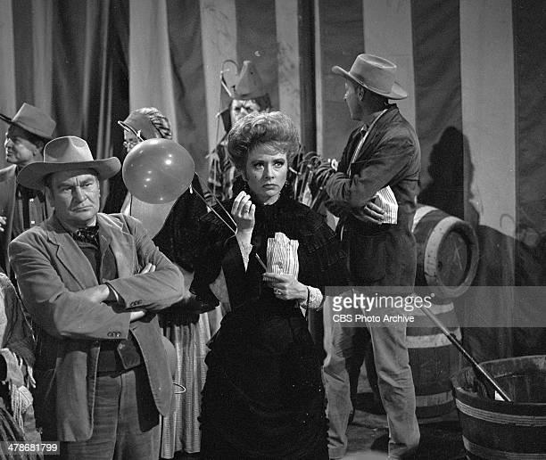 "Amanda Blake as Kitty Russell in the GUNSMOKE episode, ""Circus Trick."" Image dated June 8, 1964."