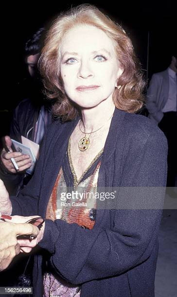 Amanda Blake attends the screening of 'Samaritan' on May 1 1986 at the Academy Theater in Beverly Hills California
