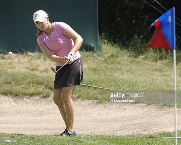 Amanda Blumenherst during a practice round at Newport Country Club site of the 2006 U S Women's Open in Newport Rhode Island June 27 2006