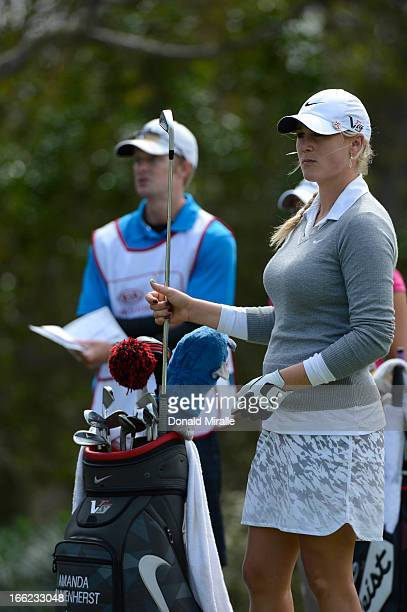 Amanda Blumenherst looks on from the tee box during Round One of the LPGA 2013 Kia Classic at the Park Hyatt Aviara Resort on March 21 2013 in...