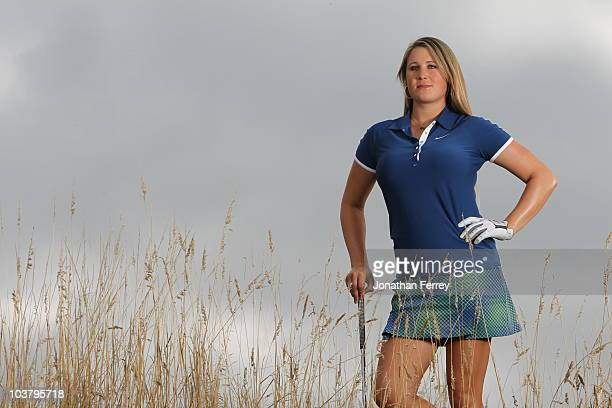 Amanda Blumenherst poses for a portrait before the Safeway Classic at Pumpkin Ridge Golf Club on August 18 2010 in North Plains Oregon