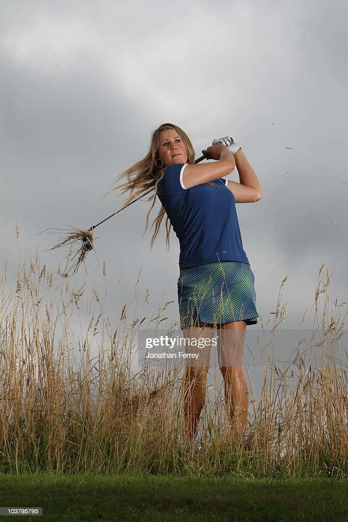 Amanda Blumenherst poses for a portrait before the Safeway Classic at Pumpkin Ridge Golf Club on August 18, 2010 in North Plains, Oregon.