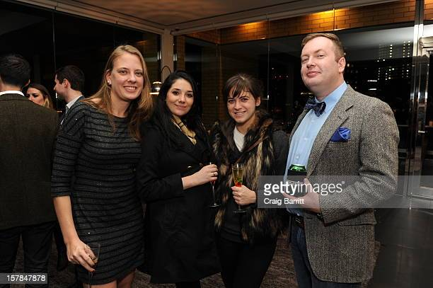 Amanda Bowers Conal Duffy and guests attend the Worldview Entertainment 2012 Holiday Party at William Beaver House on December 6 2012 in New York City