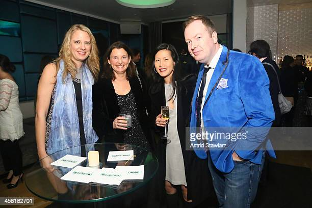 Amanda Bowers guest Margaret Chu and Conal Duffy attend the Worldview Entertainment Holiday Party held at Gansevoort Park Avenue on December 3 2013...