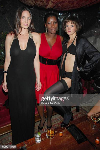 Amanda Braun Saweda Kamara Bullock and Tori McGraw attend VIVA JAMES BOND HOLIDAY PARTY at Buffalo Club on December 18 2008 in Santa Monica CA