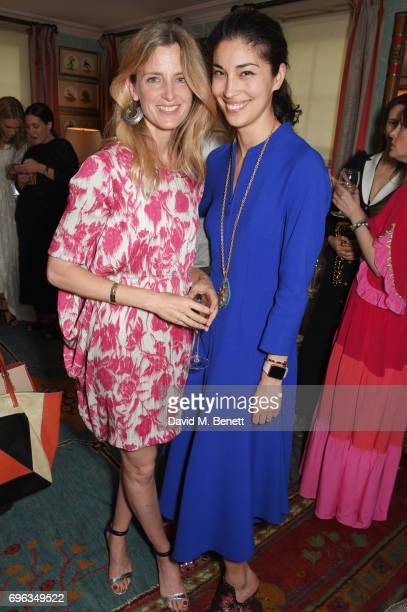 Amanda Brooks and Caroline Issa attend an intimate dinner hosted by Alice NaylorLeyland for friends to celebrate her Garden Rose Cologne...