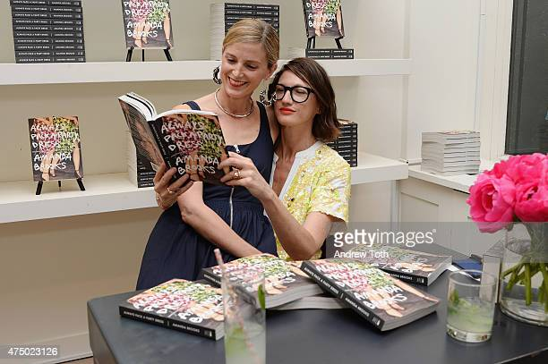 Amanda Brooks and Creative Director and President for JCrew Jenna Lyons attend the Amanda Brooks book signing at J Crew on May 28 2015 in New York...