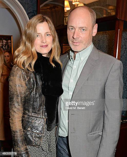 Amanda Brooks and guest attend an after party celebrating the press night performance of 'Fatal Attraction' at Mint Leaf Restaurant on March 25 2014...