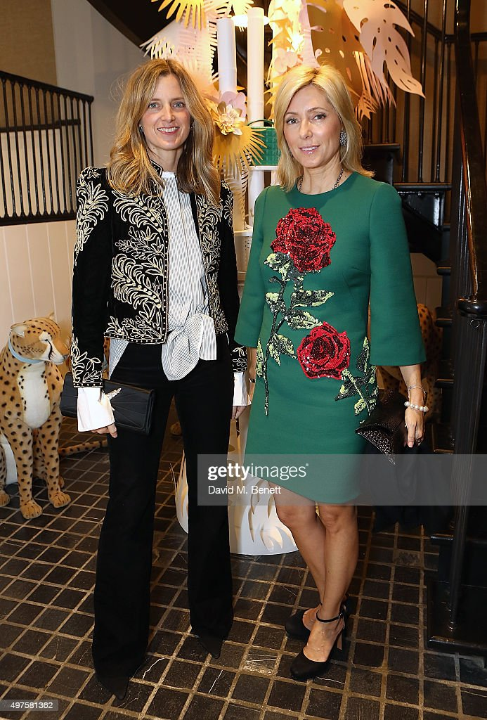 Amanda Brooks and Princess Marie-Chantal of Greece attend the Moda Operandi Holiday dinner hosted by Lauren Santo Domingo on November 17, 2015 in London, England.