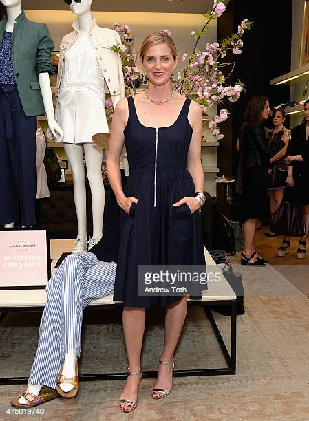 Amanda Brooks attends the Amanda Brooks book signing at J Crew on May 28 2015 in New York City