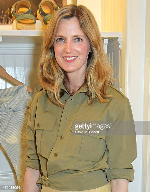 Amanda Brooks attends the book launch party for 'India Hicks Island Style' at Ralph Lauren Fulham Road on April 28 2015 in London England