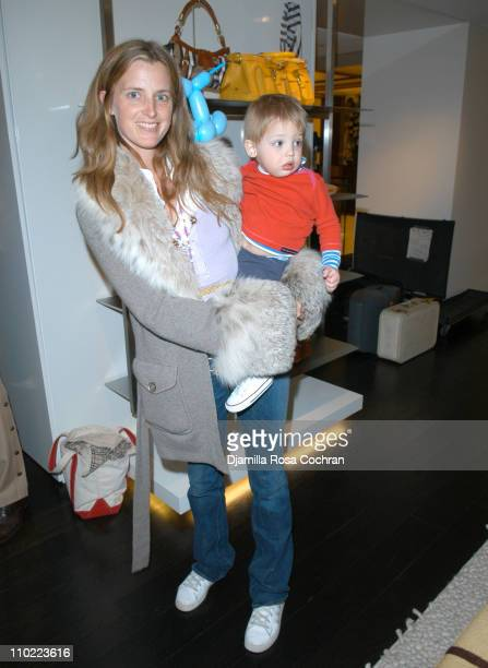 Amanda Brooks during Bella Cuomo and Augustus Albemarle's Birthday Party March 17 2005 at Burberry in New York City New York United States