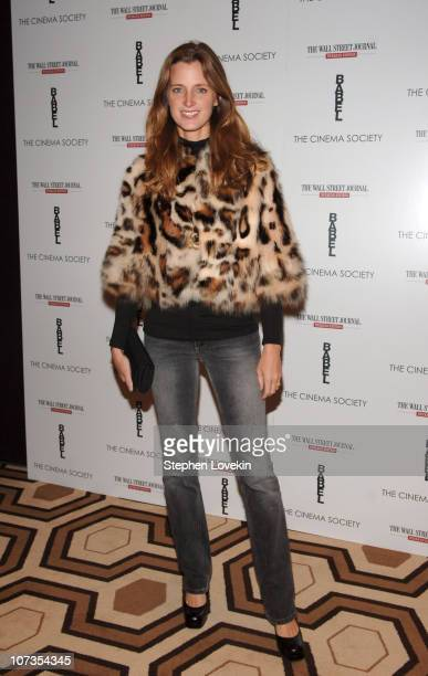 Amanda Brooks during The Cinema Society and The Wall Street Journal Weekend Edition Host a Screening of 'Babel' Outside Arrivals at Tribeca Grand...