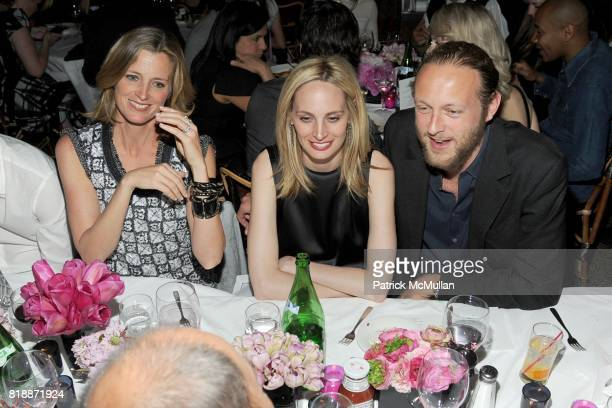 Amanda Brooks Lauren Santo Domingo and Edward Churchill attend CHANEL hosts 5th Annual TRIBECA FILM FESTIVAL Dinner INSIDE at The Odeon on April 28...