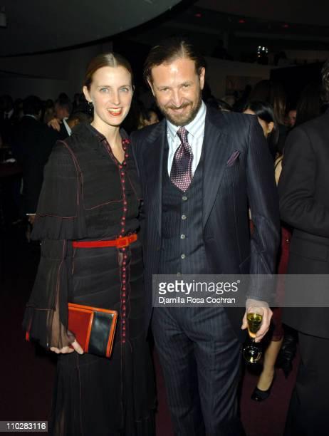 Amanda Brooks wearing Yves Saint Laurent and Stefano Pilati