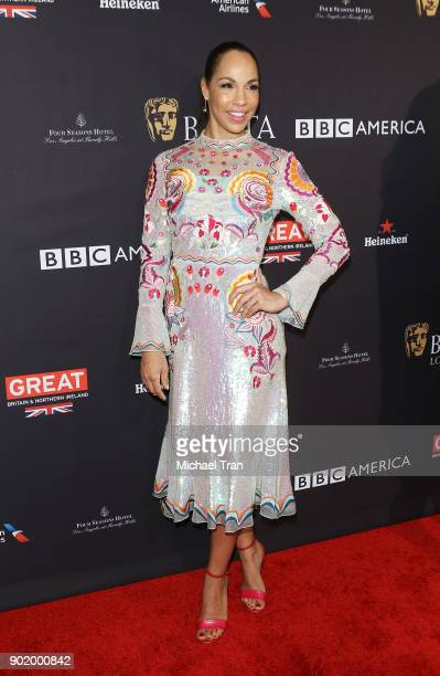 Amanda Brugel arrives at The BAFTA Los Angeles Tea Party held at Four Seasons Hotel Los Angeles at Beverly Hills on January 6 2018 in Los Angeles...