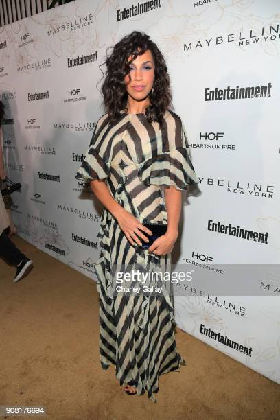 Amanda Brugel attends Entertainment Weekly's Screen Actors Guild Award Nominees Celebration sponsored by Maybelline New York at Chateau Marmont on...