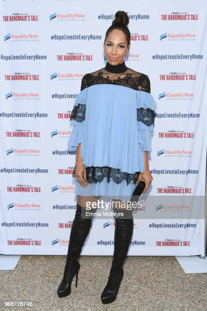 Amanda Brugel attends 'Hope Lives in Every Name' A Celebration with Equality Now and Hulu's 'The Handmaid's Tale' hosted by Heather Pulier at Private...