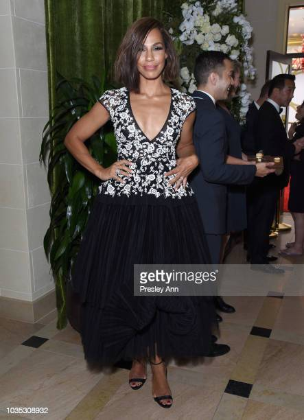 Amanda Brugel attends Hulu's 2018 Emmy Party at Nomad Hotel Los Angeles on September 17 2018 in Los Angeles California