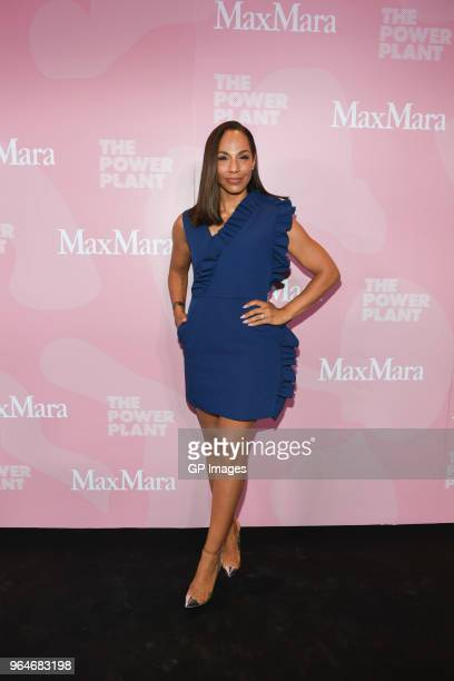 Amanda Brugel attends Max Mara Power Ball XX at The Power Plant on May 31 2018 in Toronto Canada