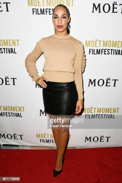Amanda Brugel attends Moet and Chandon Celebrates 3rd Annual Moet Moment Film Festival and kick off of Golden Globes Week at Poppy on January 5 2018...