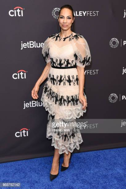 Amanda Brugel attends PaleyFest Los Angeles 2018 'The Handmaid's Tale' at Dolby Theatre on March 18 2018 in Hollywood California