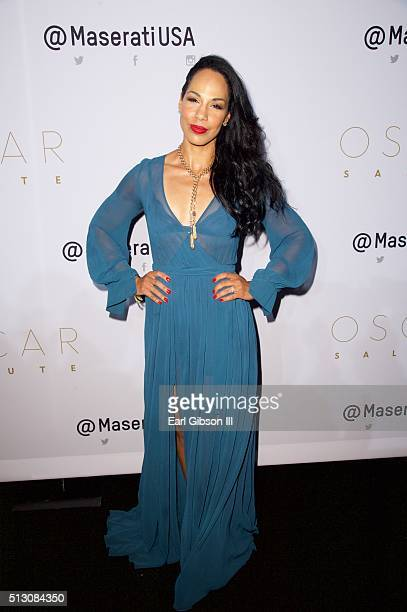 Amanda Brugel attends the 2016 Oscar Salute Hosted By Kevin Hart at W Hollywood on February 28 2016 in Hollywood California