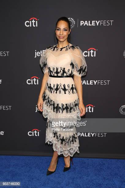 Amanda Brugel attends the 2018 PaleyFest Los Angeles Hulu's 'The Handmaid's Tale' at Dolby Theatre on March 18 2018 in Hollywood California