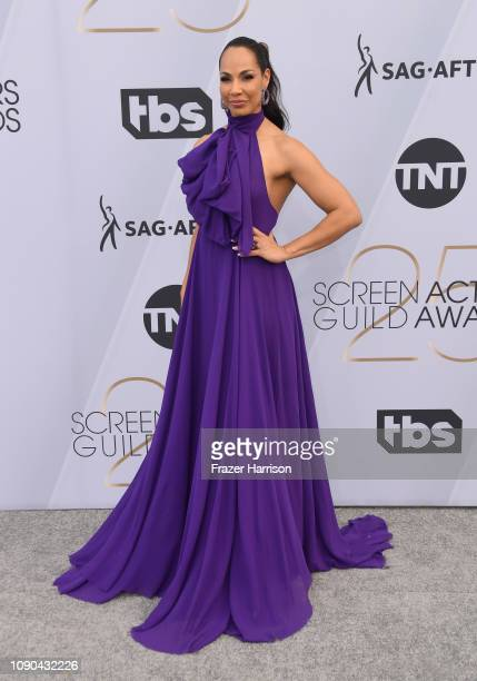 Amanda Brugel attends the 25th Annual Screen ActorsGuild Awards at The Shrine Auditorium on January 27 2019 in Los Angeles California