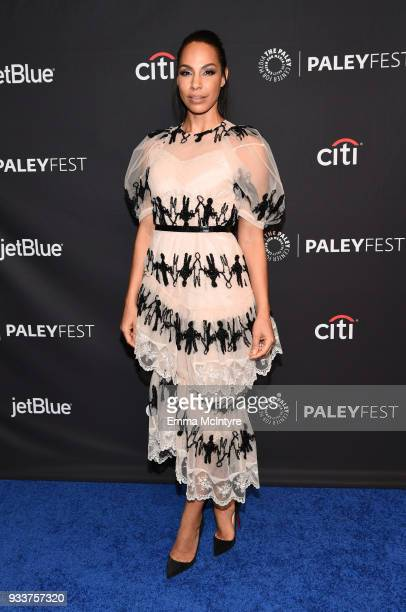 Amanda Brugel attends The Paley Center For Media's 35th Annual PaleyFest Los Angeles with 'The Handmaid's Tale' at Dolby Theatre on March 18 2018 in...
