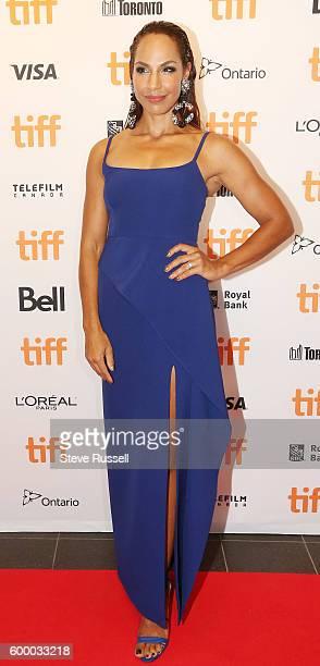 TORONTO ON SEPTEMBER 7 Amanda Brugel on the red carpet at the annual Toronto International Film Festival Soiree fundraiser at the TIFF Bell...