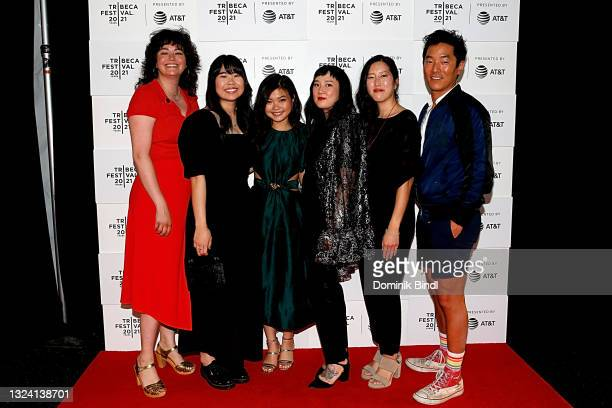 "Amanda Buja, Kannon Omachi, Miya Cech, Kate Tsang, Carolyn Mao and Leonardo Nam attend the 2021 Tribeca Festival premiere of ""Marvelous And The Black..."