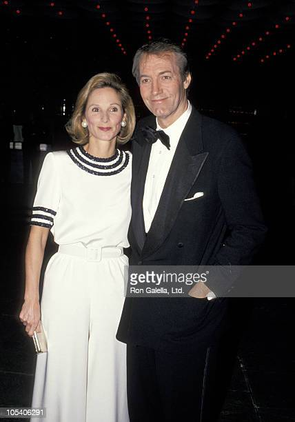 Amanda Burden and Charlie Rose during Harpers Bazaar Honors Richard Avedon at Whitney Museum in New York City New York United States
